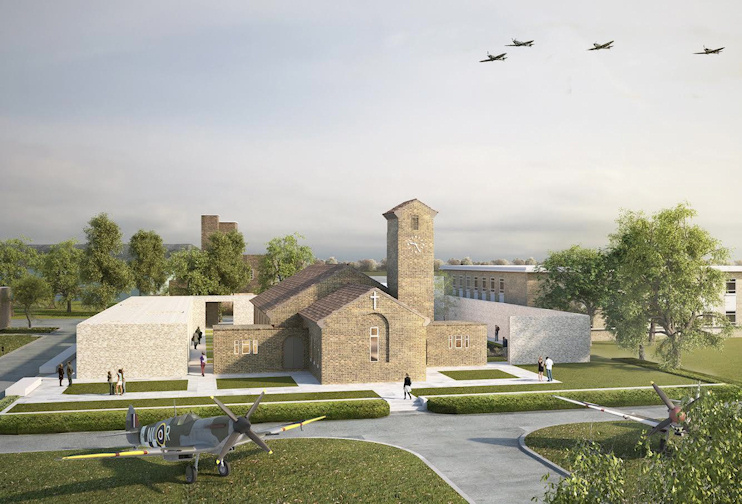 Hidden London: Biggin Hill Memorial Museum and St George's RAF Chapel - CGI by Robin Lee Architecture