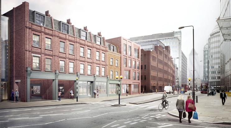 Hidden London: Norton Folgate, Blossom Street scheme, CGI by British Land