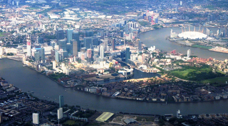 Hidden London: Isle of Dogs aerial view by Anthony Parkes