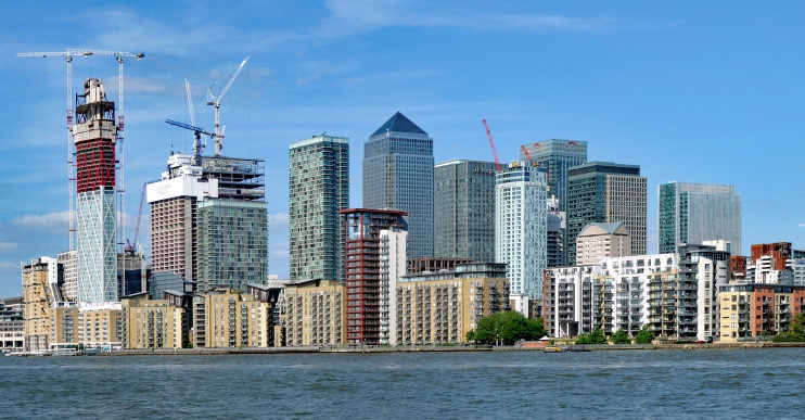 Hidden London: Canary Wharf: view from Greenland Dock, by Julian Osley