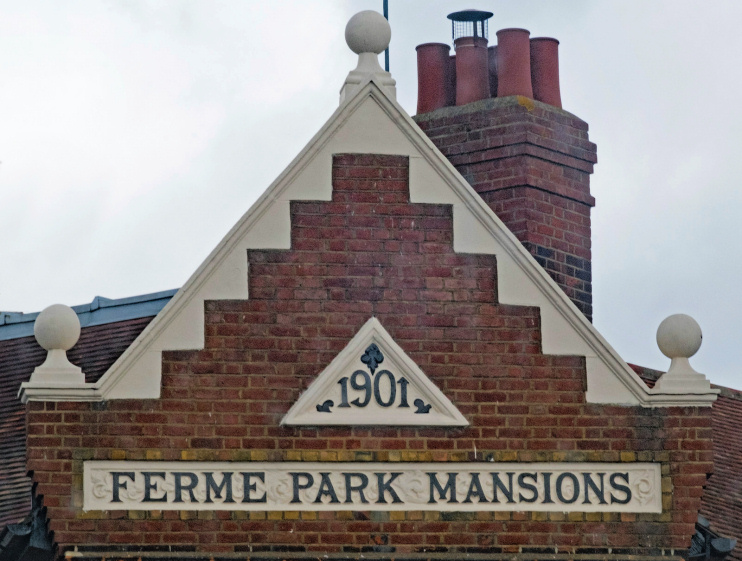 Hidden London: gable, Ferme Park Mansions, Hornsey Vale, by Julian Osley