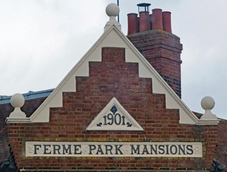 Hidden London: gable, Ferme Park Mansions, Hornsey Vale, by Julian Osley