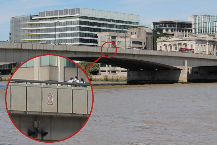 Hidden London: Bridge Mark on London Bridge