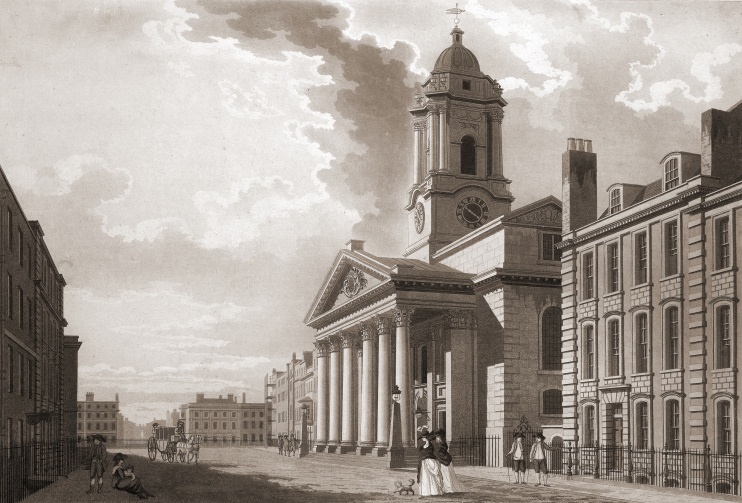Hidden London: St Georges Hanover Square by T Malton, 1787