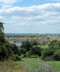 Hidden London: View south-westwards from Pollards Hill by Robin Webster