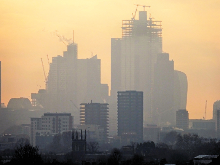Hidden London: London Misty Skyline, 21 January 2019, by David Holt