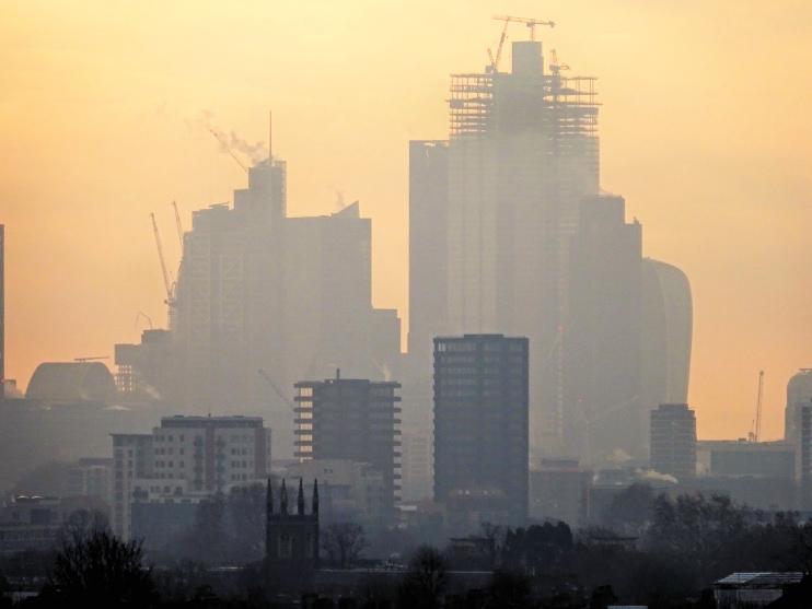 Hidden London: London Misty Skyline, 21 January 2019, by David Holt
