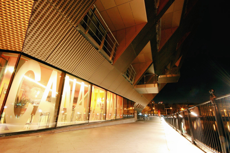 Hidden London: Canada Water library by night by Barney Moss