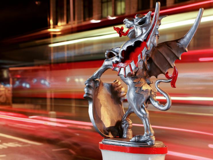 Hidden London: City Guardian by night by Barney Moss