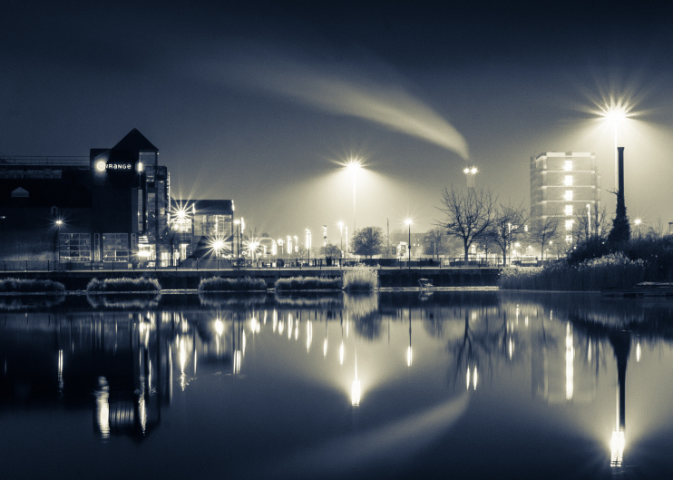 Hidden London: Surrey Quays by night by Barney Moss