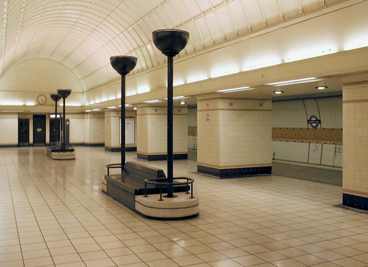 Hidden London: 'Moscow Hall' at Gants Hill tube station