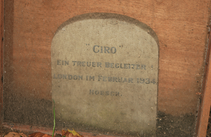 Hidden London: The tombstone of Giro, the so-called Nazi dog