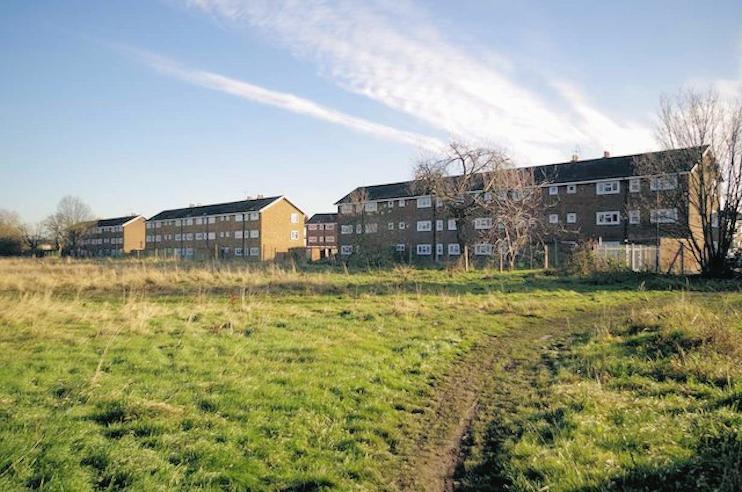 Hidden London: The rear of the Rush Green Gardens flats by Glyn Baker