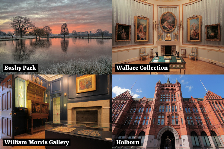 Hidden London: composite image with three photos by Hidden London and one by Derek Winterburn