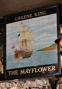 Hidden London: old Mayflower pub sign