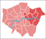 East and south-east London, as Hidden London sees them for the purposes of this page