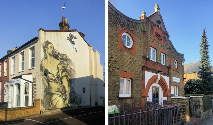 Hidden London: Europa by Faith47 and Nunhead library, photos by Chris Barrett