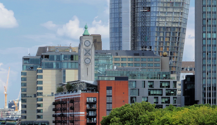 Hidden London: Oxo Tower and taller neighbours (1 Blackfriars and South Bank Tower), by Matt Buck