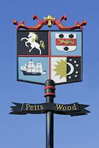 Hidden London: Petts Wood village sign by Ian Capper