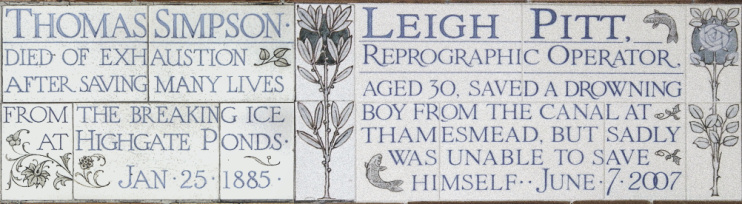 Hidden London: Commemorative tiling at Postman's Park
