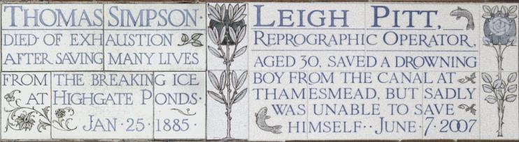 Hidden London: Commemorative tiling at Postman's Park