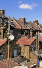 Hidden London: the rear of houses in St James Street, seen from the station