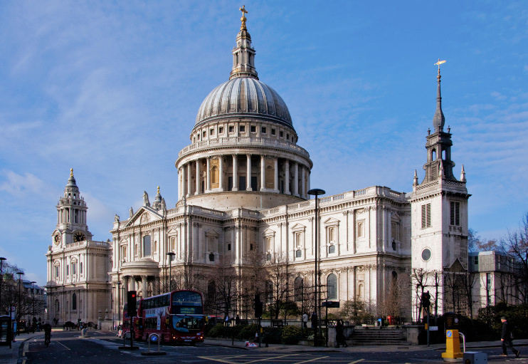 Hidden London: St Paul's Cathedral on a sunny winter's day by Garry Knight