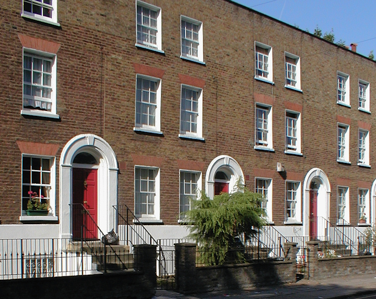 Hidden London: Part of a Georgian terrace on Stepney Green
