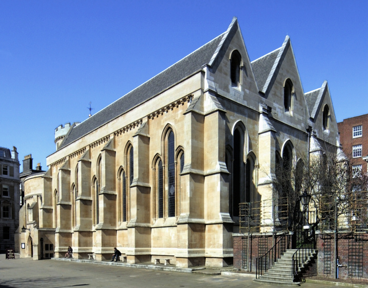 Hidden London: Temple church in sunshine