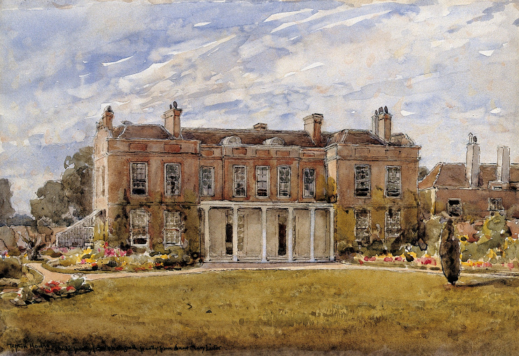 Hidden London: Watercolour of Upton House on Upton Lane, birthplace of Joseph Lister, courtesy Wellcome Images