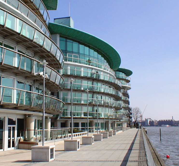 Hidden London: Modern, expensive but somewhat ordinary, apartment blocks now line much of Wapping riverside
