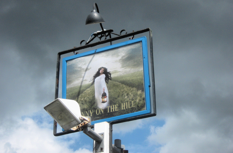 Hidden London: Fanny on the Hill, pub sign, by David Anstiss