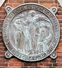 Hidden London: Sign on the gate of the Royal National Orthopaedic Hospital