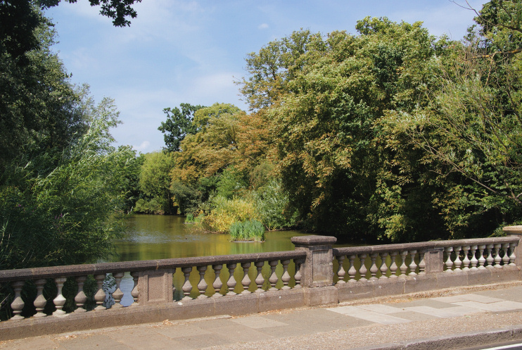 Hidden London: The lake at Cannon Hill Common by Bill Boaden