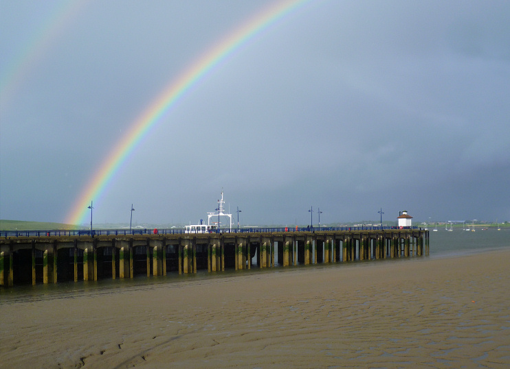 Hidden London: Rainbows over Erith Pier by Marathon