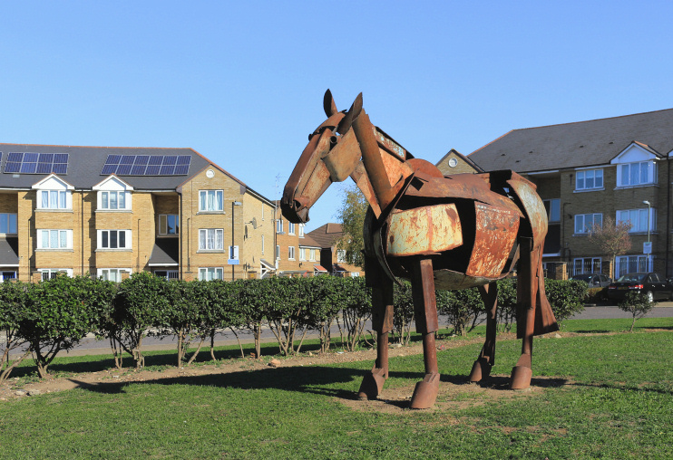 Hidden London: Marsh Side, Monty the horse, by Des Blenkinsopp