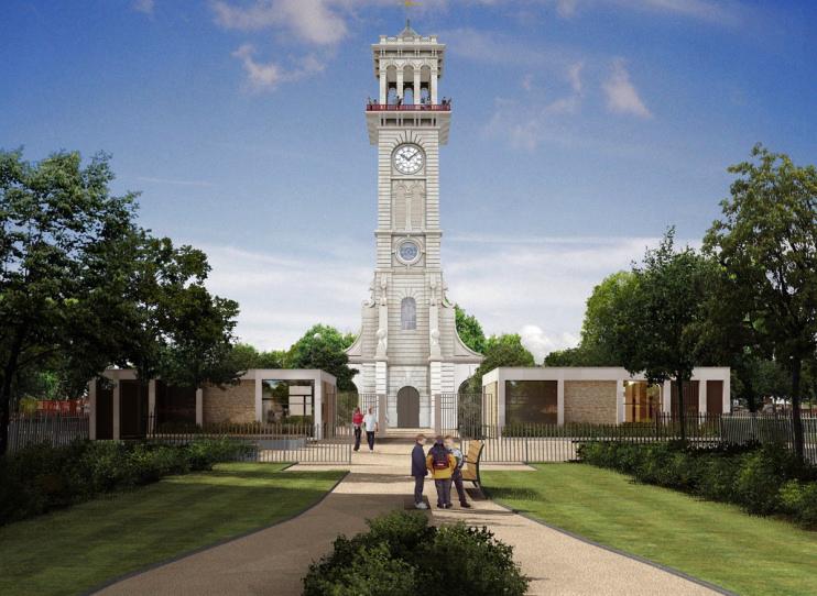 Hidden London: Caledonian clock tower CGI by Islington council