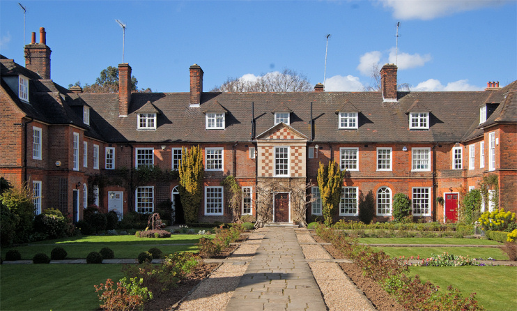 Hidden LondonL Quadrangle housing, Hampstead Garden Suburb, by Julian Osley