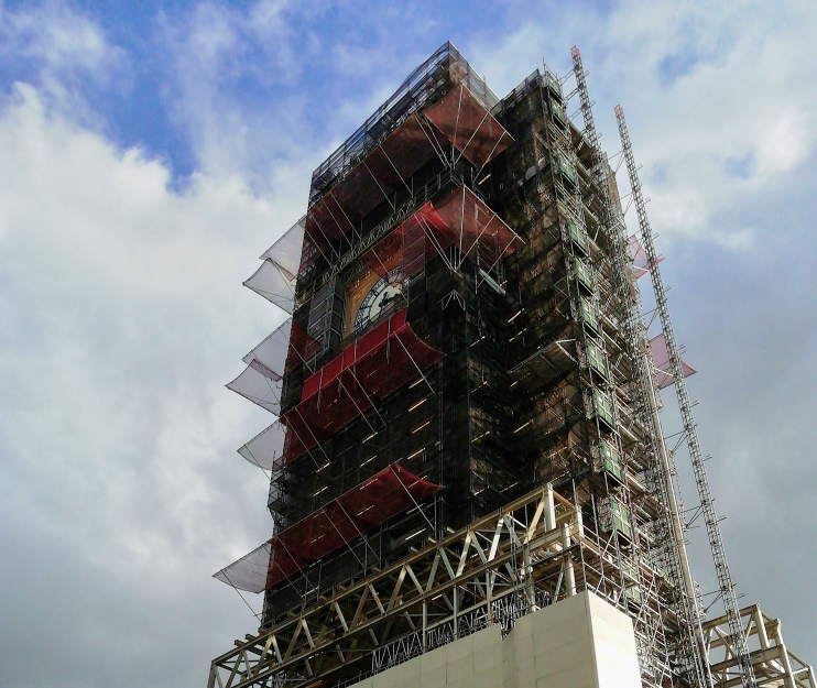 Hiddeen London: Big Ben during repair work