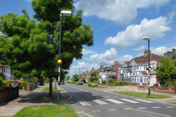 Hidden London: Corbets Tey Road, on the corner of Tawny Avenue looking in the direction of Upminster, by Marathon