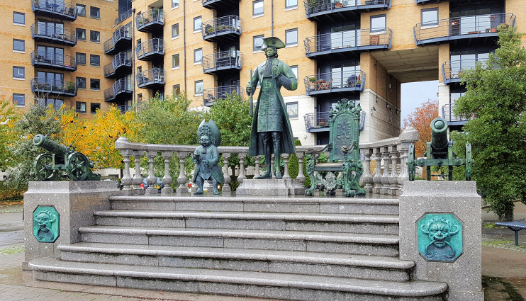 Hidden London: Statue of Peter the Great outside Greenfell Mansions, by Independently London